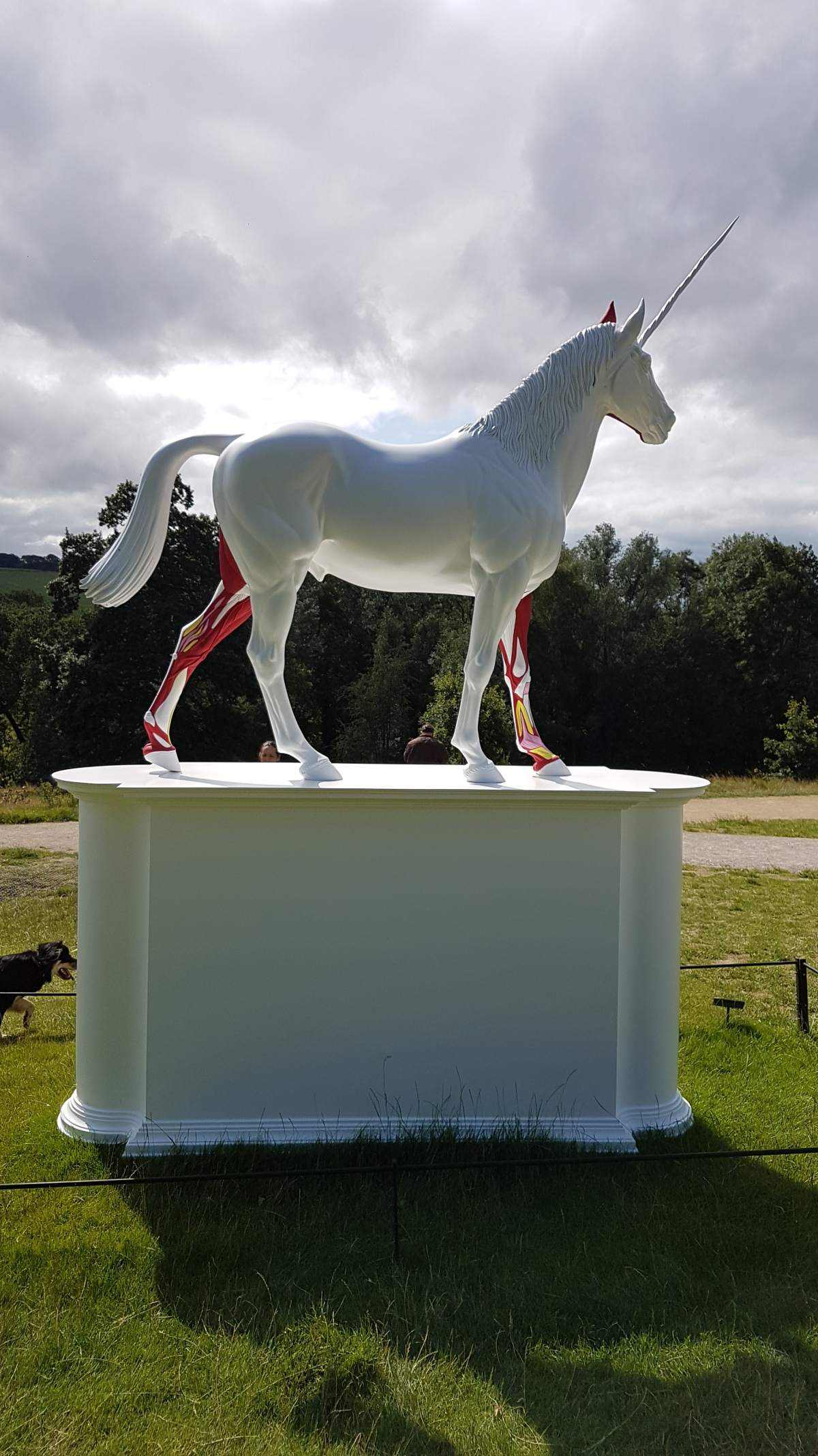 Unicorn in a big park……..my kind of art!